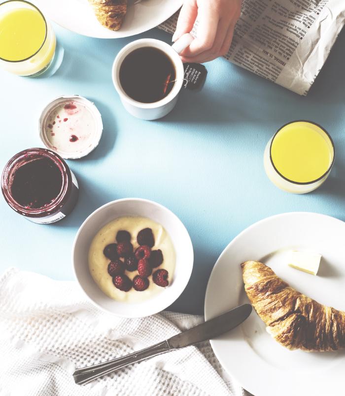 忙しい朝にぴったりの朝食。<br>今日一日は「朝ごはん」で決まる。
